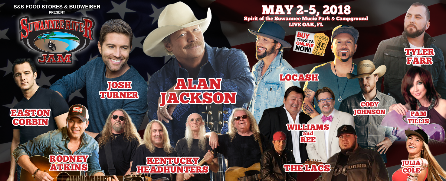 Suwannee River Jam - May 2-5, 2018 - Live Oak, FL