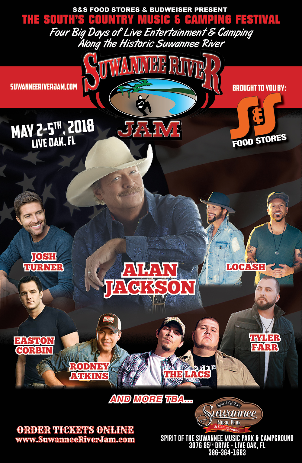 2018 Suwannee River Jam Line Up Announced Suwannee River Jam