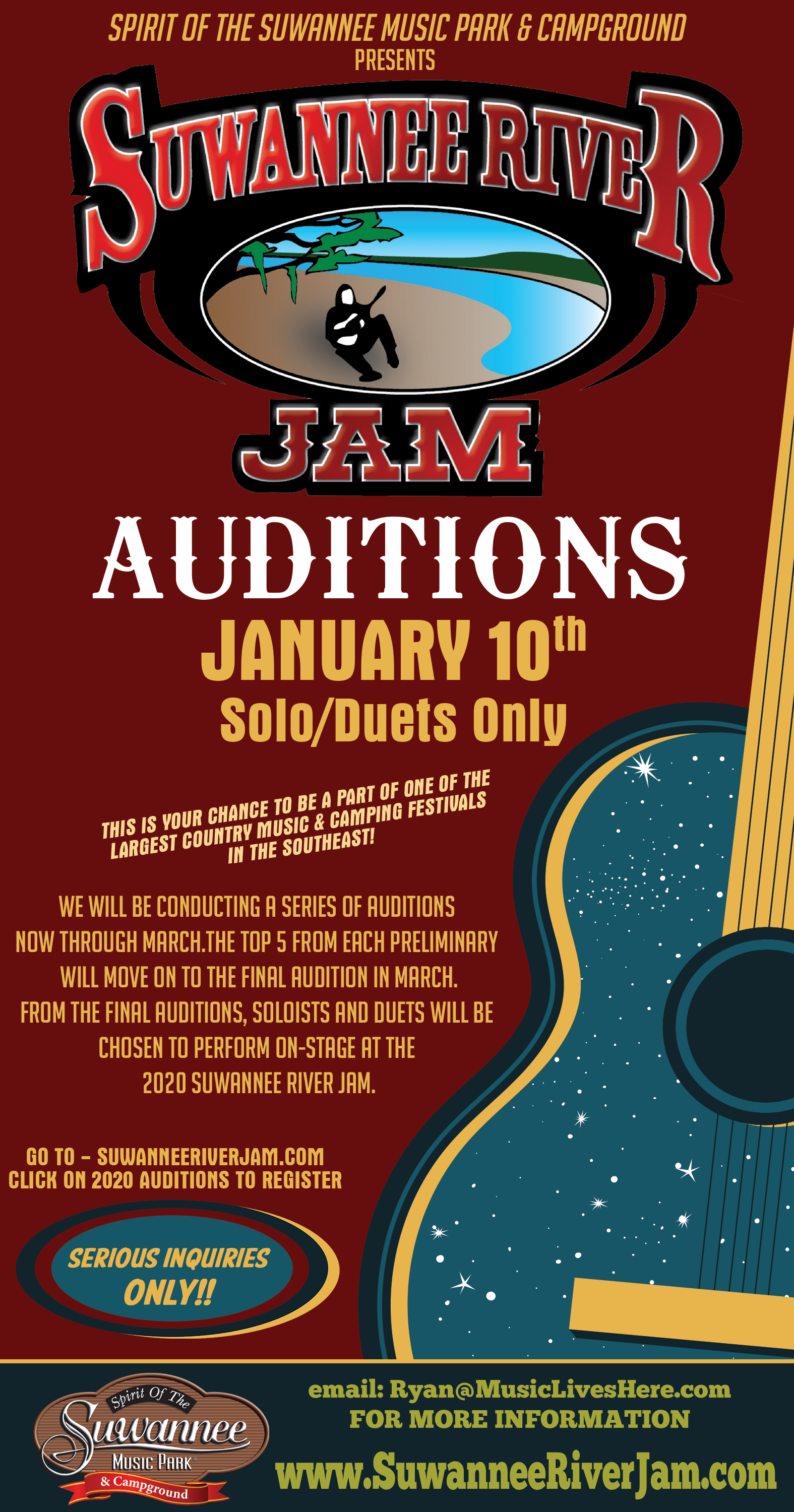 SRJam Auditions - January 10, 2020