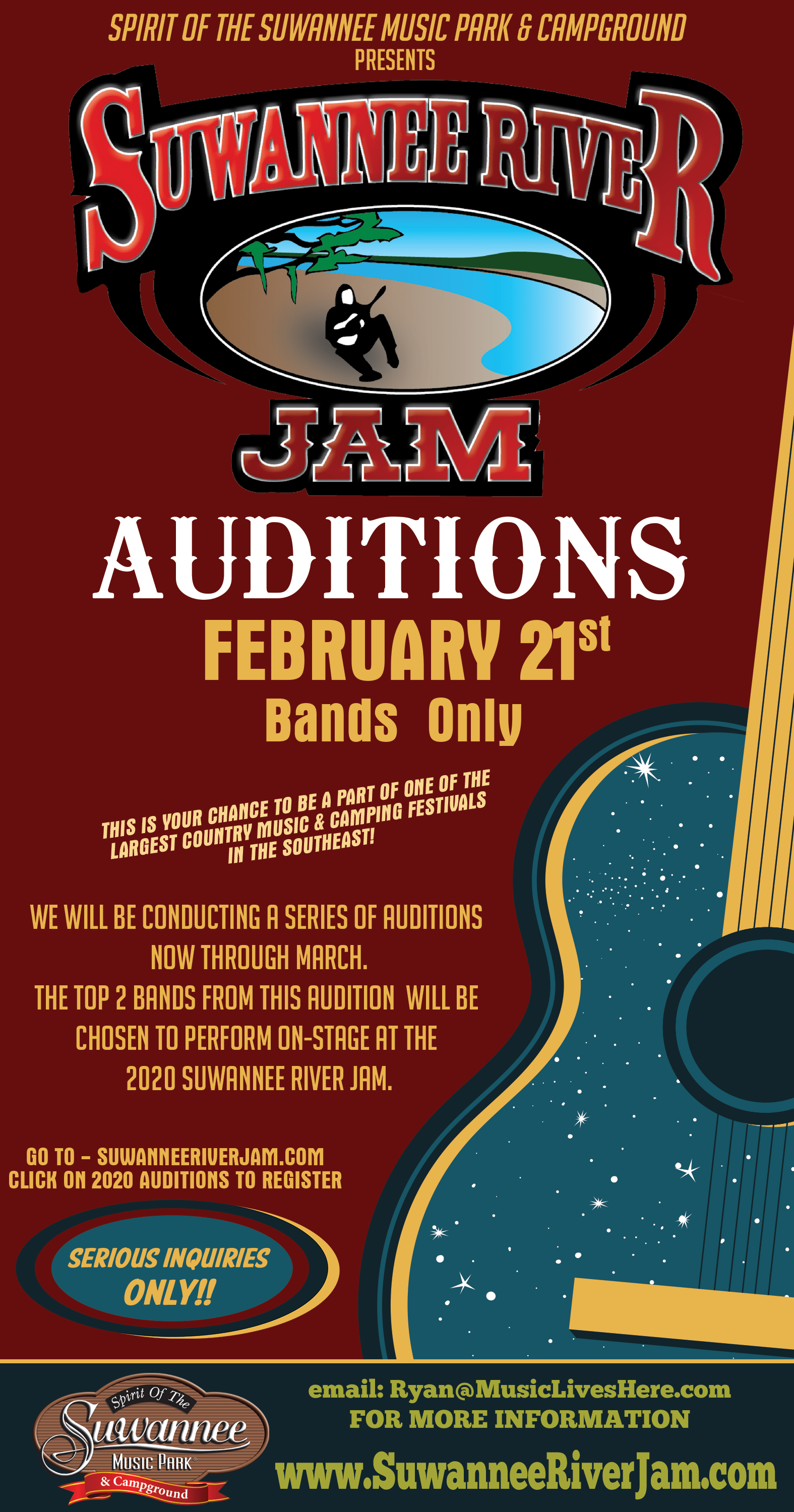 SRJam Auditions - February 21, 2020